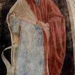 Profeta Geremia, Affresco di Piero della Francesca, Leggenda della Vera Croce, San Francesco, Arezzo. No Copyright