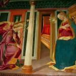 Annunciazione (1471), Chiesa di Santa Lucia al Borghetto, Tavarnelle Val di Pesa, Firenze. No Copyright