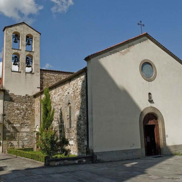Chiesa dei Santi Donato e Ippolito, Bibbiena, Casentino, Arezzo. Autore Vignaccia76. Licensed under the Creative Commons Attribution