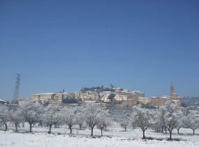 Neve a Castiglion Fiorentino, Arezzo. Autore Pigellino74. No Copyright