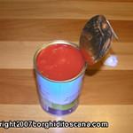 Gli ingredienti. Il pomodoro. Cinghiale in Umido. Autore e Copyright Marco Ramerini