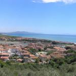 Panorama sulla parte moderna di Castiglione della Pescaia. Author and Copyright Marco Ramerini