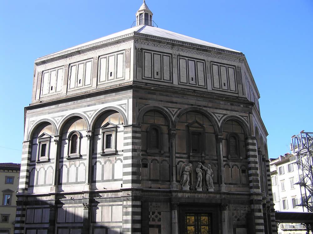 Baptisterio de San Juan, Florencia. Autor y Copyright Marco Ramerini.