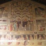 Última Cena de Taddeo Gaddi, la Basílica de la Santa Cruz. Autor y Copyright Marco Ramerini