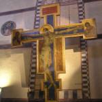 Crucifijo pintado por Cimabue, Basílica de Santa Croce. Autor y Copyright Marco Ramerini.