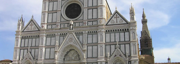 Facciata della Basilica di Santa Croce, Firenze. Author and Copyright Marco Ramerini