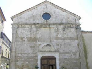 Facciata della chiesa di San Giovanni Battista, Magliano in Toscana, Grosseto. Author and Copyright Marco Ramerini