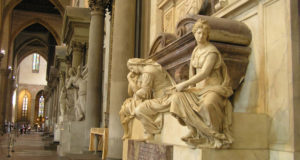 La Tomba di Michelangelo, Basilica di Santa Croce, Firenze. Author and Copyright Marco Ramerini
