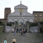 The facade of San Miniato al Monte, Florence. Author and Copyright Marco Ramerini
