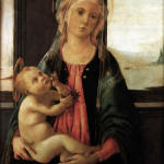 Madonna del Mare de Sandro Botticelli, Galleria de la Accademia, Florencia, Italia. No Copyright