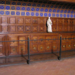 Furniture of the fifteenth century in the sacristy of the Basilica of San Miniato al Monte, Florence. Author and Copyright Marco Ramerini