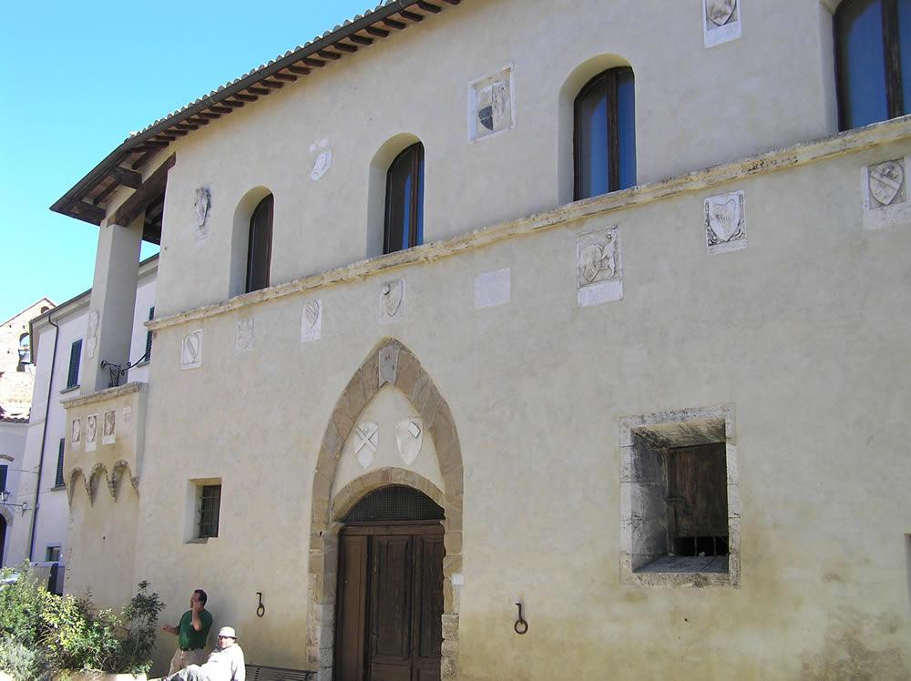 Palazzo dei Priori, Magliano in Toscana, Grosseto. Author and Copyright Marco Ramerini