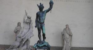 Perseus by Benvenuto Cellini. Loggia della Signoria or Loggia dei Lanzi, Piazza della Signoria, Florence. Author and Copyright Marco Ramerini.