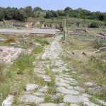 Visione d'insieme dell'area archeologica con il Cardo Maximus, Roselle, Grosseto. Author and Copyright Marco Ramerini