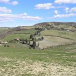 Campagna attorno a Monticchiello, Val d'Orcia, Siena. Author and Copyright Marco Ramerini.