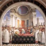 Domenico Ghirlandaio, Funeral of St. Fina, Chapel of Santa Fina, San Gimignano, Siena