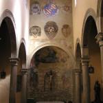 Gli affreschi presenti all'interno della Chiesa di Santa Maria, Pitigliano, Grosseto. Author and Copyright Marco Ramerini