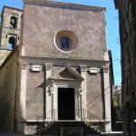 La facciata della Chiesa di Santa Maria, Pitigliano, Grosseto. Author and Copyright Marco Ramerini