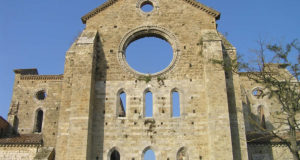 The apse of the Abbey of San Galgano, Chiusdino, Siena. Autor and Copyright Marco Ramerini