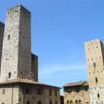 Towers, Piazza del Duomo, San Gimignano, Siena.  Author and Copyright Marco Ramerini.
