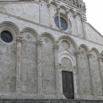Particolare della facciata del Duomo, Massa Marittima, Grosseto,. Author and Copyright Marco Ramerini