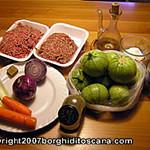 Ingredienti delle Zucchine Ripiene. Autore e Copyright Marco Ramerini