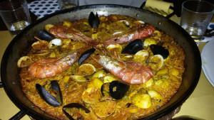 Paella de Mariscos, Restaurante español La Posta, Poggibonsi, Siena