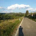La strada dopo aver superato la cupola di San Donnino. Autore Marco Ramerini