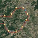 Mappa dell'itinerario Barberino, Tavarnelle, Magliano, Bagnano, San Donnino, Petrognano, Barberino