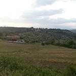 Paesaggio nei pressi delle Montigliane, sullo sfondo Petrognano. Autore Marco Ramerini..