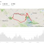 Mappa MTB itinerario Padule di Fucecchio