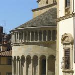 Abside della Pieve di Santa Maria, Piazza Grande, Arezzo. Autore e Copyright Marco Ramerini.
