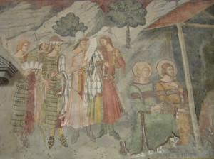 Affreschi della Chiesa di San Francesco, Lucignano, Arezzo. Autore e Copyright Marco Ramerini
