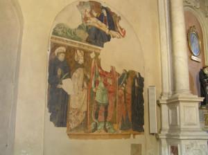 Affresco, Chiesa di Sant'Agostino, Monte San Savino, Arezzo. Autore e Copyright Marco Ramerini