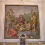 Affresco attribuito a Michelangelo Buonarroti, Chiesa di Santa Maria, Marcialla, Barberino Val d'Elsa, Firenze. Author and Copyright Marco Ramerini