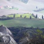Décembre: Paysage près de Pienza, Val d'Orcia, Sienne. Auteur et Copyright Marco Ramerini