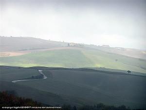 Diciembre, campo cerca de Pienza, Val d'Orcia, Siena. Autor y Copyright Marco Ramerini