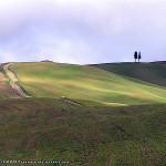 Décembre: Paysage près de San Quirico d'Orcia, Val d'Orcia, Sienne. Auteur et Copyright Marco Ramerini