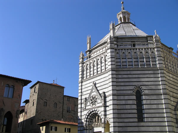 The Baptistery, Pistoia. Author and Copyright Marco Ramerini