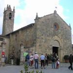 La chiesa Parrocchiale, Monteriggioni, Siena. Autore e Copyright Marco Ramerini