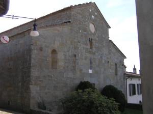 La facciata della Pieve di Gropina, Loro Ciuffenna, Arezzo. Autore e Copyright Marco Ramerini