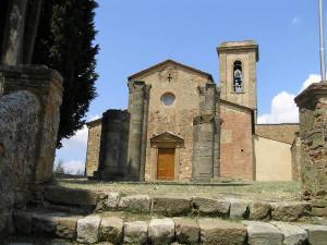 La façade de l'église paroissiale de Sant 'Appiano et les vestiges du baptistère, Barberino Val d'Elsa, Florence. Auteur et Copyright Marco Ramerini