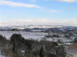 Nevicata nel Chianti, Barberino Val d'Elsa, Firenze. Autore e Copyright Marco Ramerini