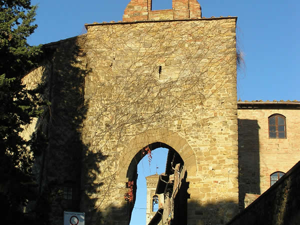 Porta Senese, Barberino Val d'Elsa, Firenze. Author and Copyright Marco Ramerini