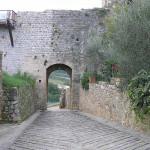 Porta di San Giovanni o Porta Fiorentina. Monteriggioni, Siena. Autor y Copyright Marco Ramerini