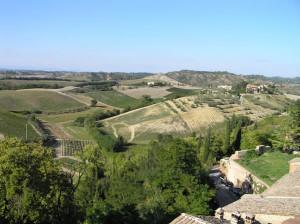 Campagna attorno a Certaldo vista dalla Casa del Boccaccio, Certaldo, Firenze. Author and Copyright Marco Ramerini