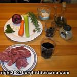 Gli ingredienti. Cinghiale in Umido. Autore e Copyright Marco Ramerini