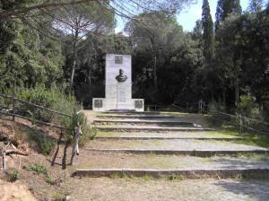 Il Monumento a Giuseppe Garibaldi, Cala Martina, Scarlino, Grosseto. Author and Copyright Marco Ramerini