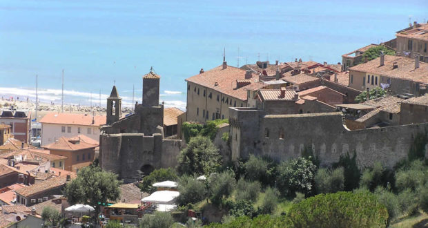 The medieval village of Castiglione della Pescaia. Author and Copyright Marco Ramerini