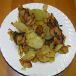 Patate Fritte. Baccalà in Umido con Patate. Author and Copyright Laura Ramerini